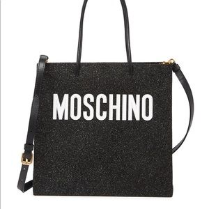 NWT MOSCHINO Couture Glitter Tote Crossbody bag